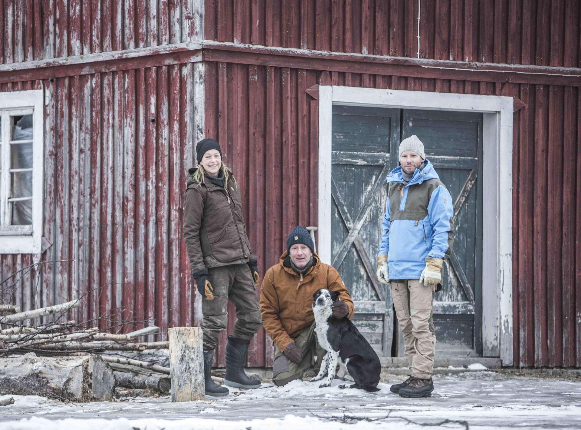 Natasha & Mats Skott from Brattlandsgården with Fjällräven CEO Martin Axelhed.