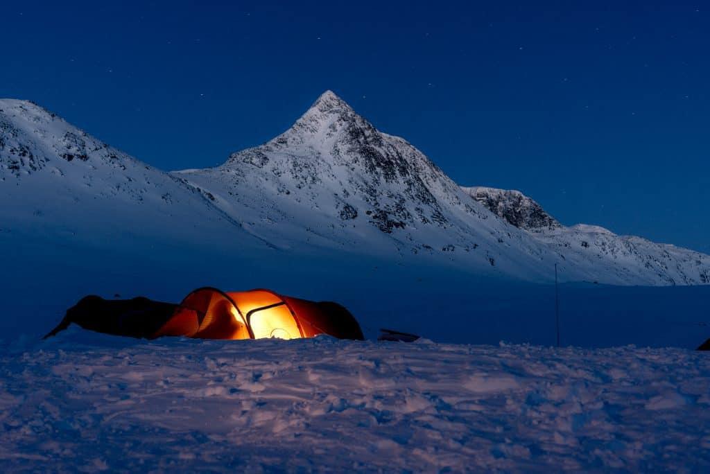 Winter camping, Fjällräven tent
