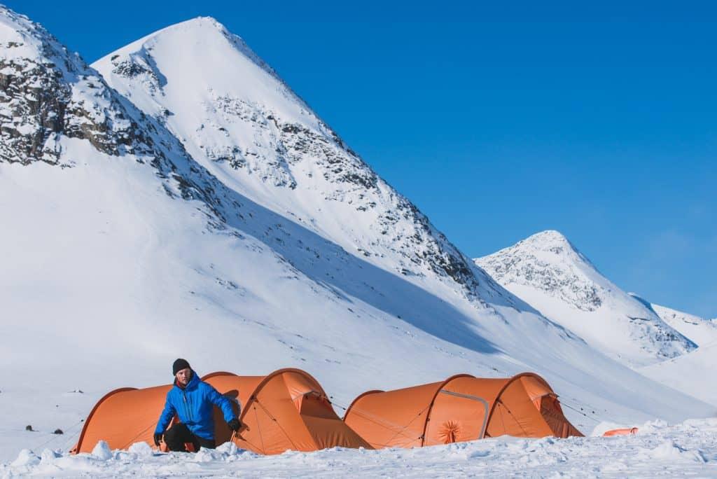 Winter camping, fjällräven tents