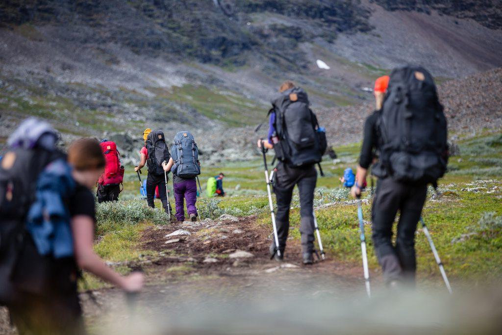 Hikers in fjällräven classic, fjällräven backpacks