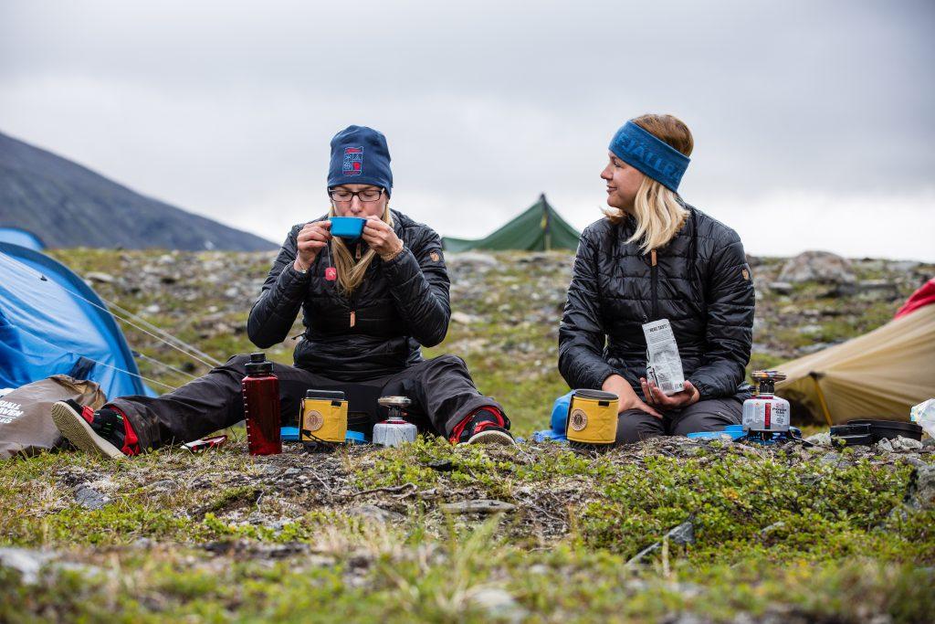 Taking a break on fjällräven classic