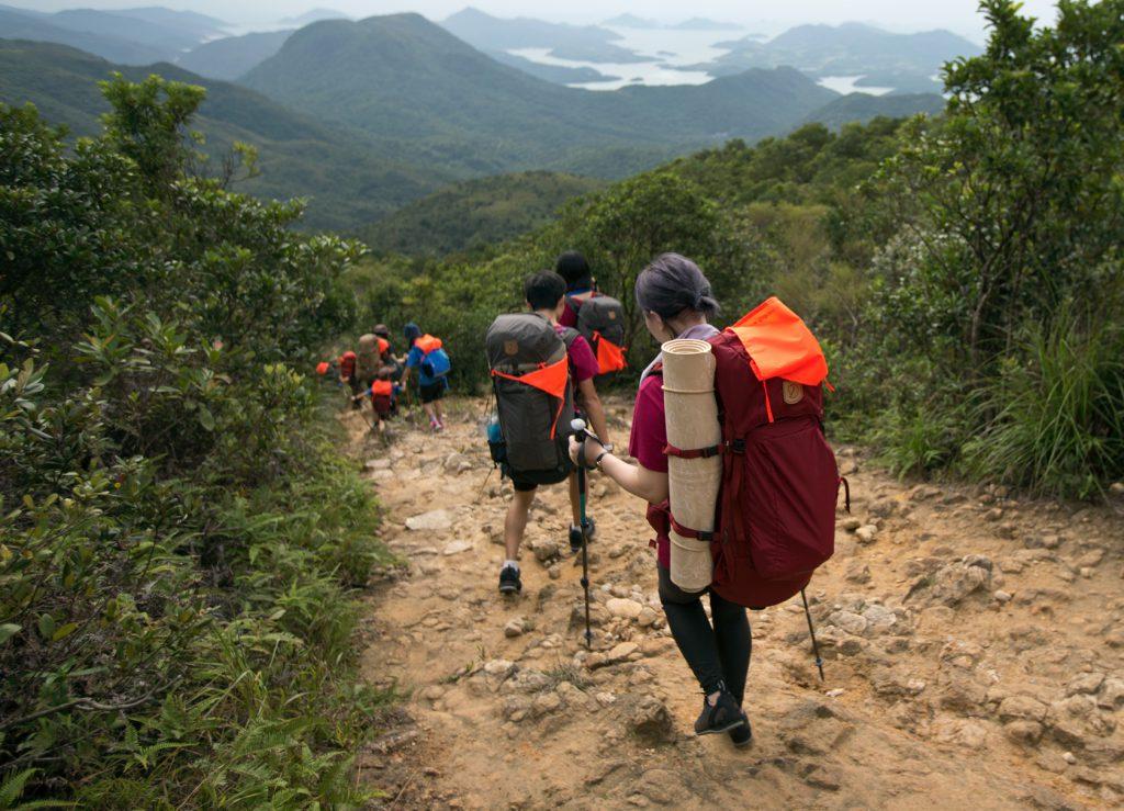 Hikers on the trail, Fjällräven Classic Hongkong, fjällräven backpack
