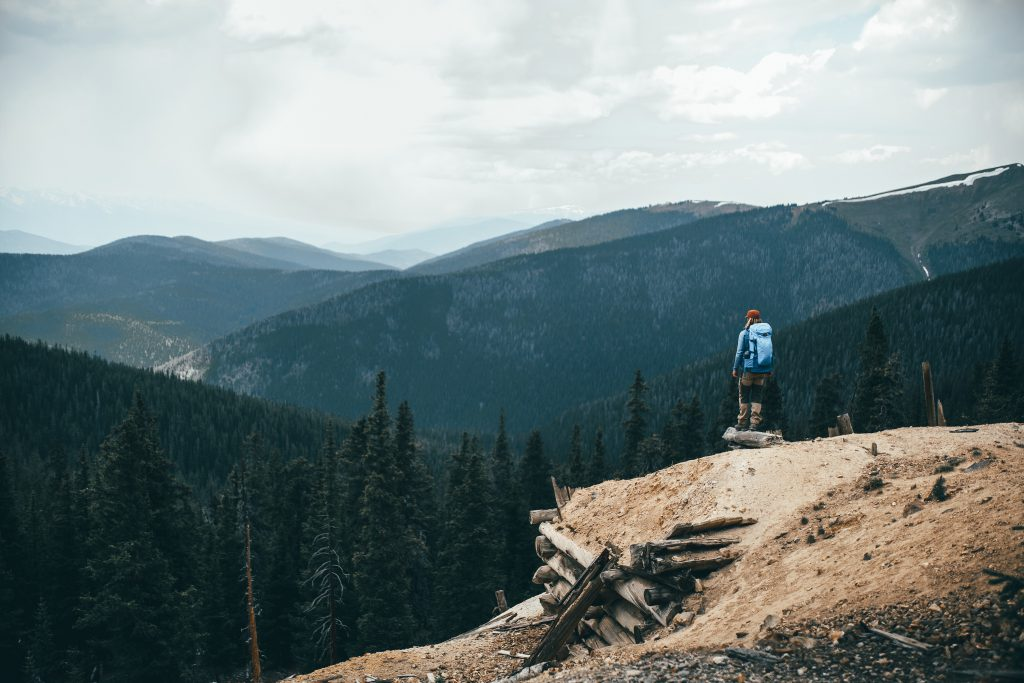 Looking out over mountain landscape, photo by @fursty