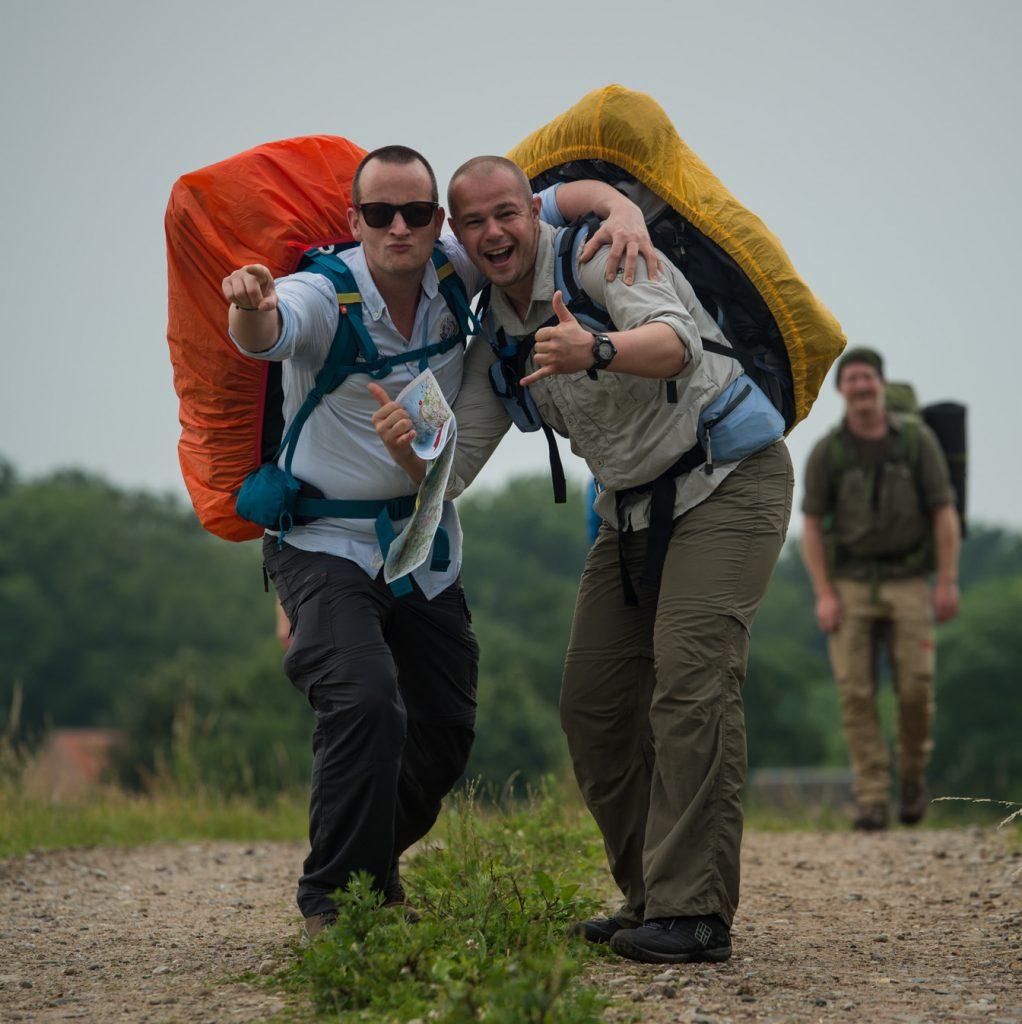 Happy hikers at fjällräven classic denmark, fjällräven backpacks