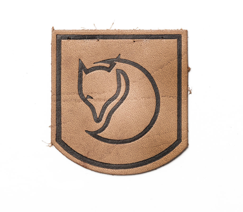 Fjällräven logo on leather patch