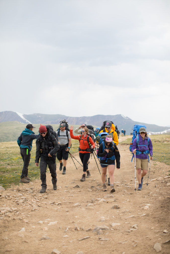 Hikers on the track at fjällräven classic