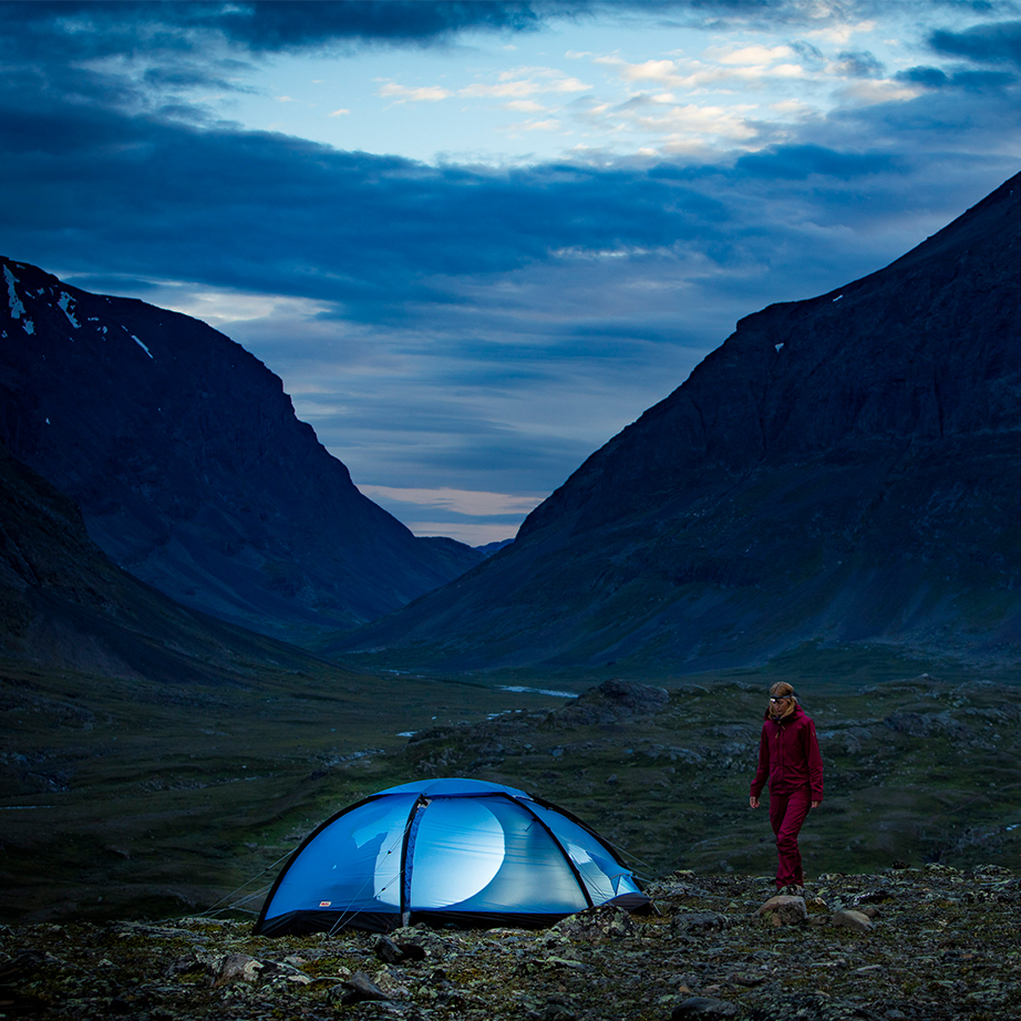 Camping in the mountains, fjällräven tent