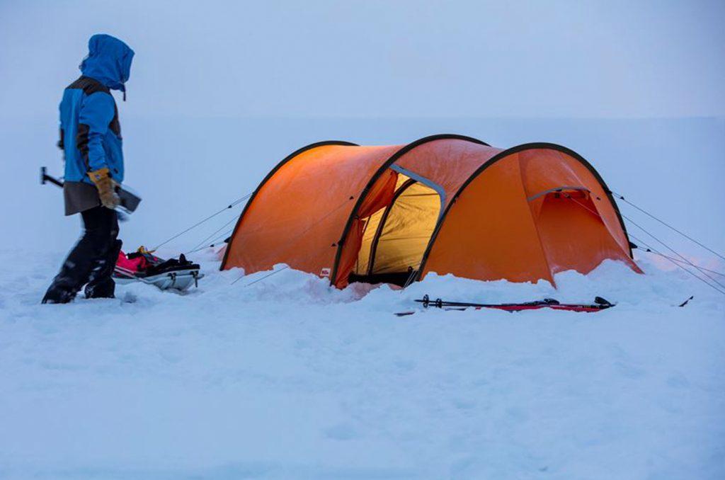 Camping, fjällräven polar endurance 3