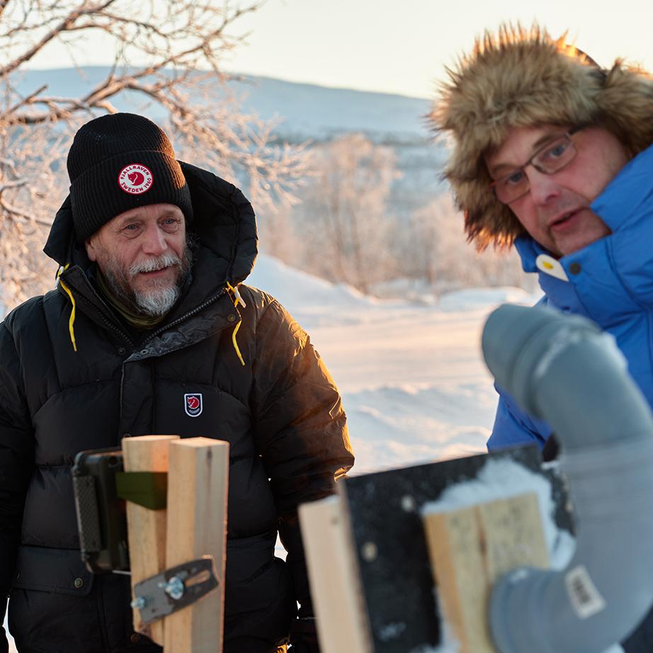 WWF Finland, arctic fox research, Fjällräven expedition down jacket